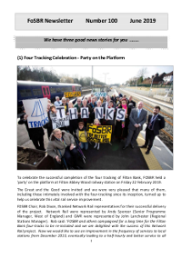 Front page of Newsletter 100