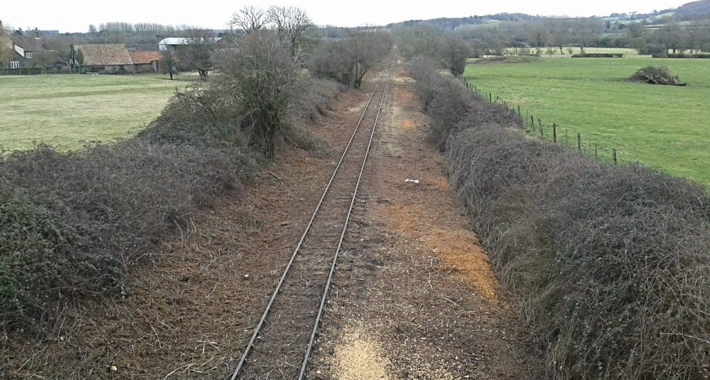 Portishead line seen from Sheepway Bridge