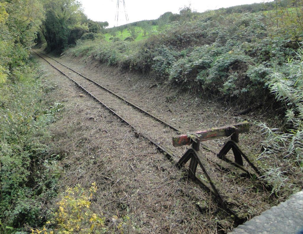 Thornbury Branch Line - buffer adjacent to A38