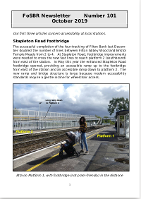 Front page of Newsletter 101