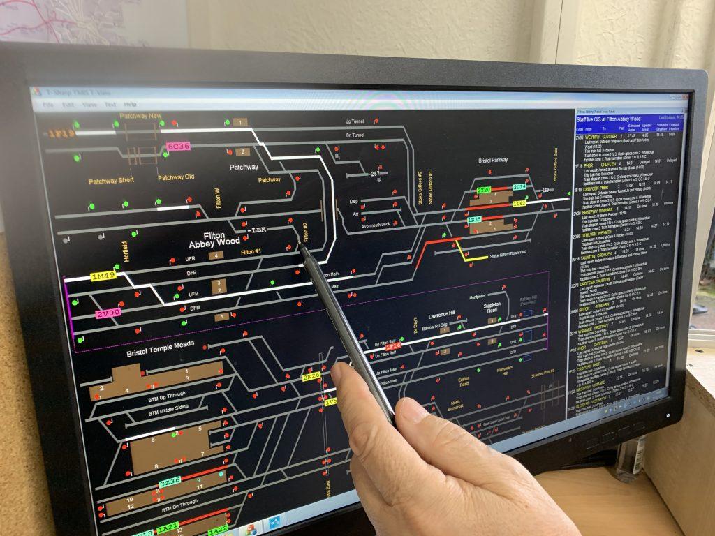 Helpful GWR staff explain Filton Abbey Wood track layout