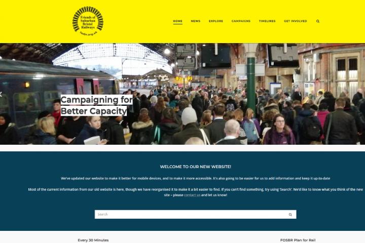 Screenshot of FOSBR website
