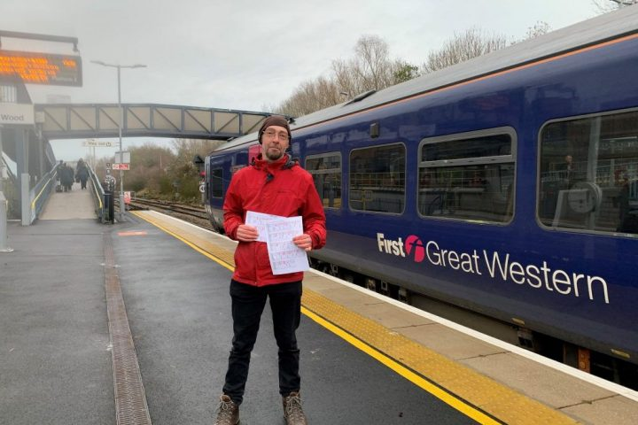 FoSBR Chair Rob Dixon at Filton Abbey Wood Station