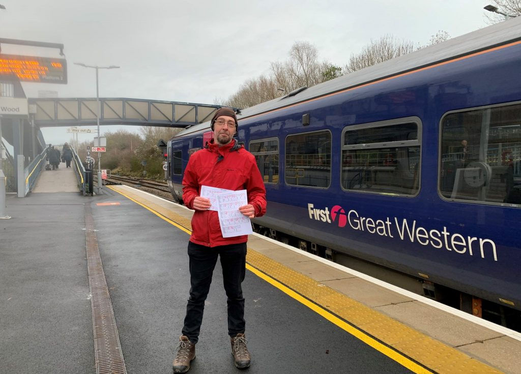 FoSBR Chair Rob Dixon at Filton Abbey Wood Station
