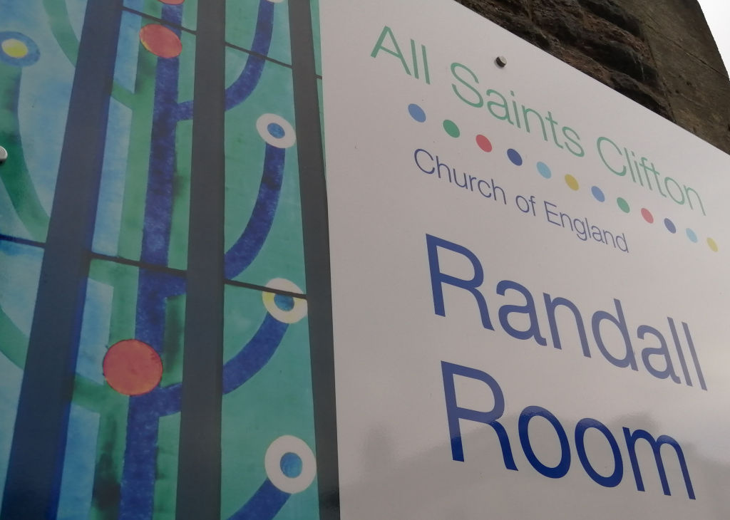 Randall Room, All Saints Church, Clifton, the venue for FOSBR AGM 2020