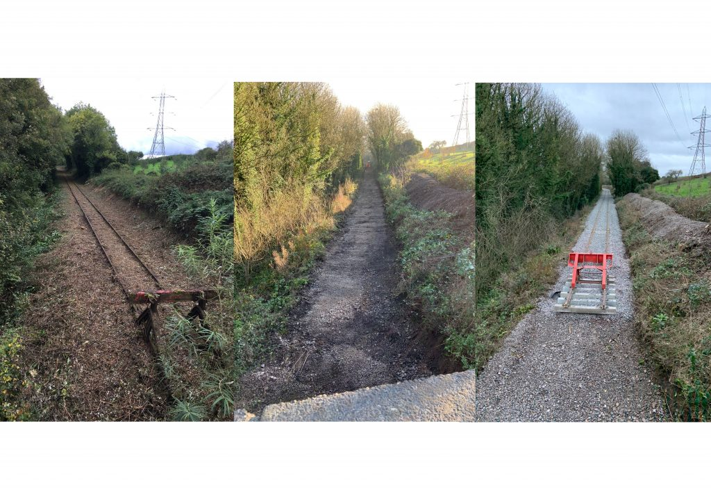 Thornbury line, east of A38, left to right: October 2017, December 2019, January 2020