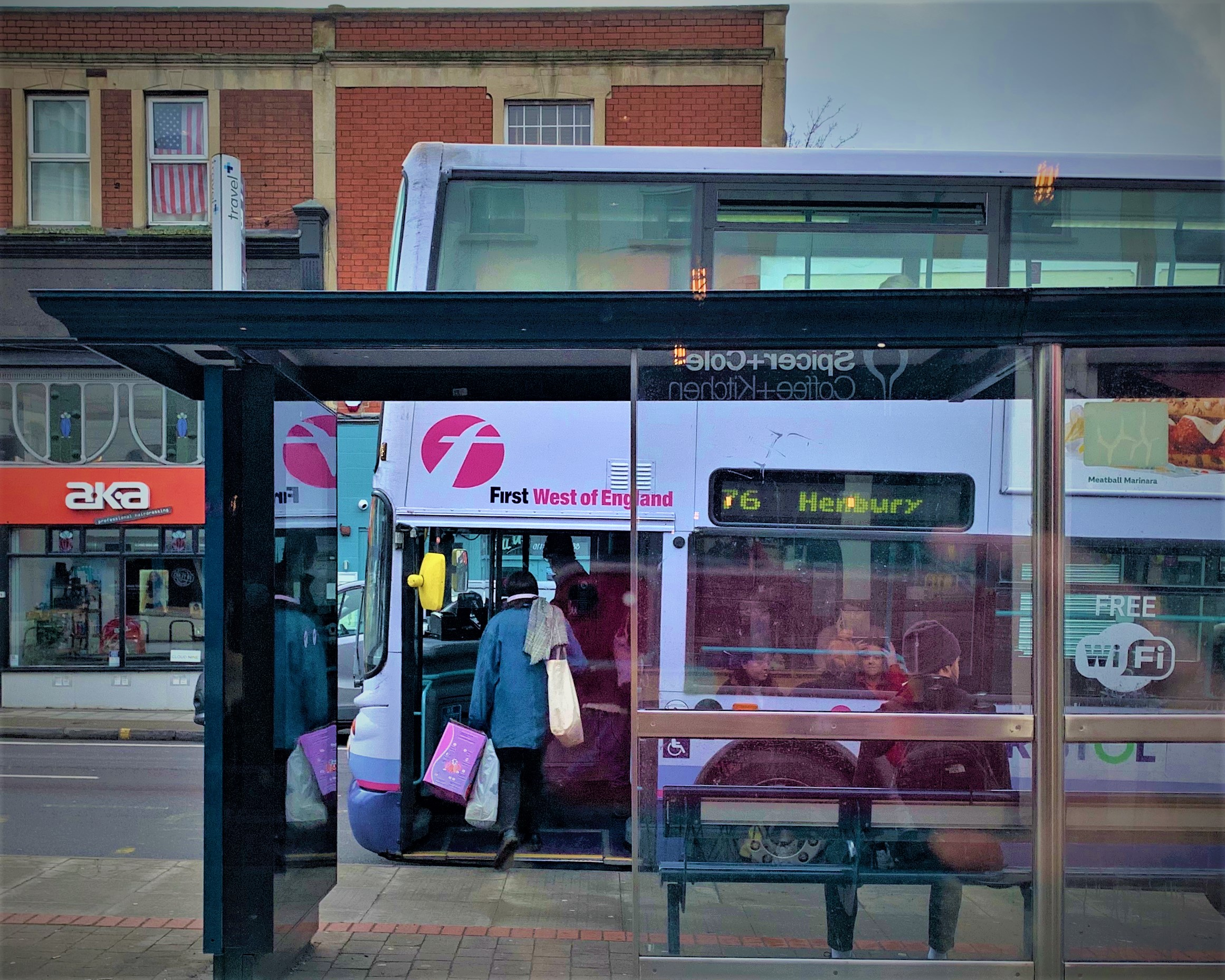Bus stop - 76 to Henbury