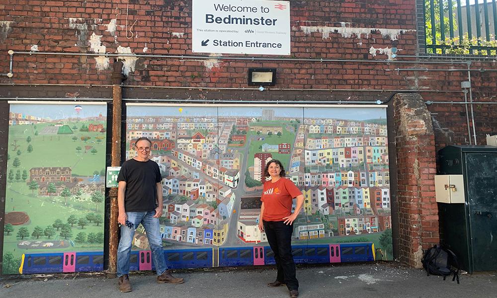 Councillor Lisa Stone & FoSBR's Tim Weekes at Bedminster - 23rd June 2021